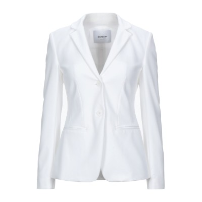 ドンダップ DONDUP テーラードジャケット ホワイト 38 レーヨン 56% / ナイロン 36% / ポリウレタン 8% テーラードジャケット