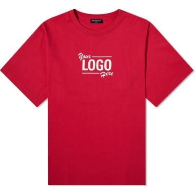バレンシアガ Balenciaga メンズ Tシャツ ロゴTシャツ トップス Your Logo Here Oversized Tee Raspberry/White