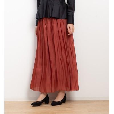 【ルージュ・ヴィフ ラクレ/Rouge vif la cle】 サテンギャザーロングスカート
