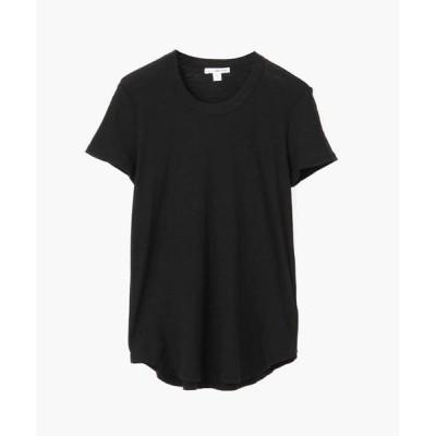 TOMORROWLAND/トゥモローランド スラブジャージー クルーネック Tシャツ WUA3037 ブラック 2(L)