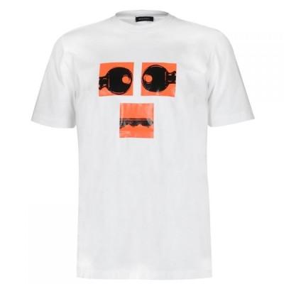 ディーゼル Diesel メンズ Tシャツ トップス Key Eyes T-Shirt White