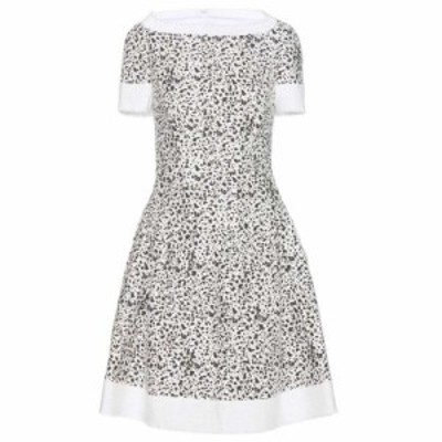 キャロリーナ ヘレラ Carolina Herrera レディース ワンピース ワンピース・ドレス Printed tweed dress White/Black