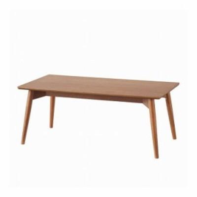 センターテーブル 幅100×奥行50×高さ40 天然木 アッシュ 天然木化粧繊維板 アッシュ ウレタン塗装 ブラウン ナチュラル(代引不可)【送