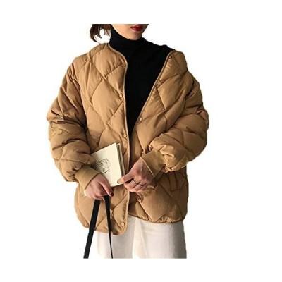 jiajia(ジア ジア)ダウンジャケット レディース 中綿 キルティングコート 中綿ジャケット ライトアウター 秋?