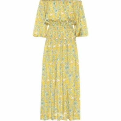 ロードリゾート RHODE レディース ワンピース ミドル丈 ワンピース・ドレス Florence floral off-shoulder midi dress Yellow Eden