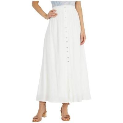 カップケーキアンドカシミア レディース スカート ボトムス Lula - Viscose Slub Natural Waist Button-Down Maxi Skirt with Elastic Waist