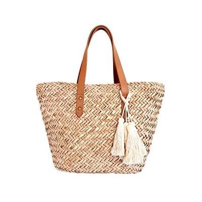 Small Mini Natural Straw Beach Bag Tote【並行輸入品】