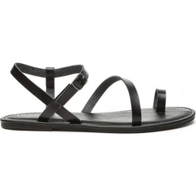 ロンドン ラグ London Rag レディース サンダル・ミュール シューズ・靴 Solid Black Thin Straps Sandal Black