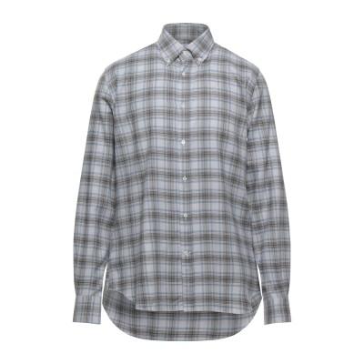 CORNELIANI ID シャツ グレー 40 コットン 80% / ウール 20% シャツ