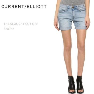 【SALE】【40%OFF】Current Elliott カレントエリオット THE SLOUCHY CUT OFF Sealine デニムショート