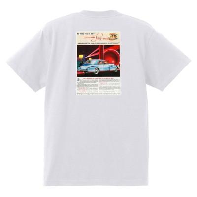 アドバタイジング キャデラックTシャツ 122 白 1938 オールディーズ ロックンロール 1950's1960's ロカビリー ローライダー