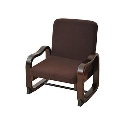 山善 和室用 座椅子 立ち上がり楽々 優しい座椅子(ハイバック) 高さ調節機能付き ダークブラウン SKC-56H(DBR) (ダークブラウン)