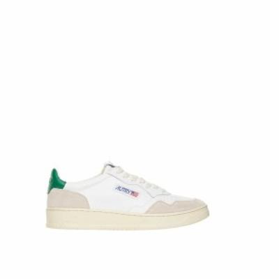 AUTRY Bianco Autry 01 low sneakers メンズ 春夏2021 AULMLS23WHTGREEN ju