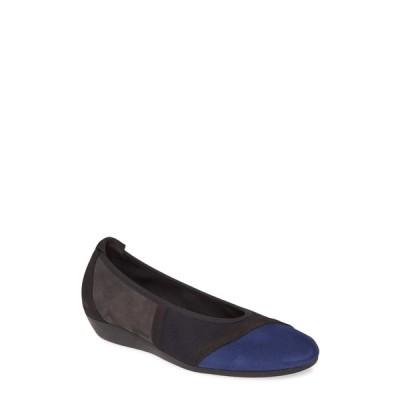 アーク サンダル シューズ レディース Onyzan Flat Minuy/ Nuit/ Lauze Leather