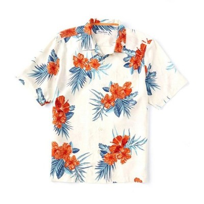 トッミーバハマ メンズ シャツ トップス Hi-Lo Hibiscus Silk Short-Sleeve Woven Shirt