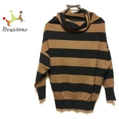 マッキントッシュフィロソフィー 七分袖セーター サイズ38 L レディース 美品 黒×ブラウン  値下げ 20200509