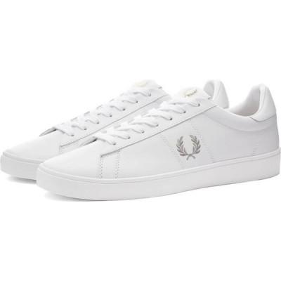 フレッドペリー Fred Perry Authentic メンズ スニーカー シューズ・靴 spencer leather sneaker White/Silver
