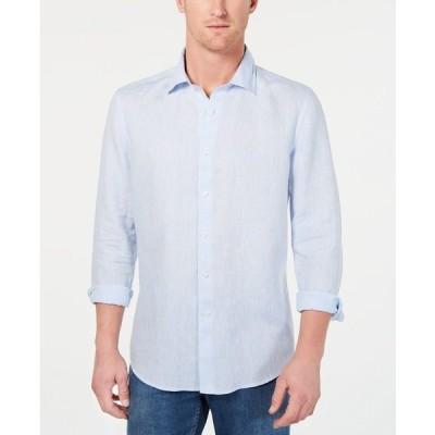 タッソエルバ シャツ トップス メンズ Men's Long-Sleeve Linen Shirt Billowing Cloud