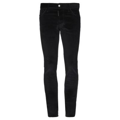 ディースクエアード DSQUARED2 パンツ ブラック 52 コットン 98% / ポリウレタン 2% / 牛革(カーフ) パンツ