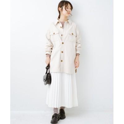 【ハコ】 気軽に羽織って今っぽオシャレに見える ゆるさがかわいいCPOジャケット レディース アイボリー L haco!