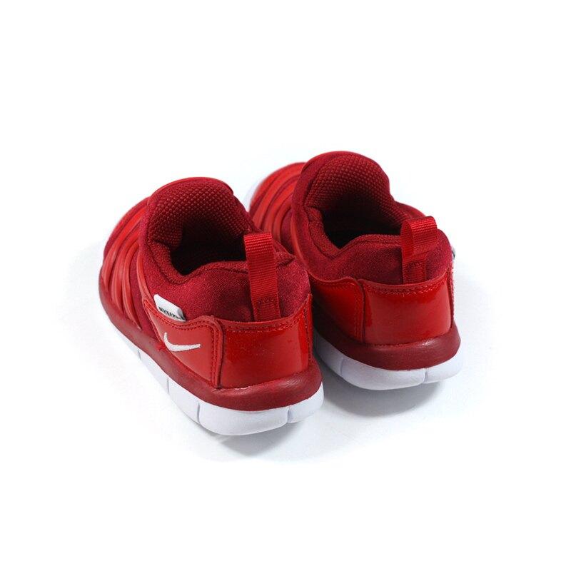 NIKE DYNAMO FREE 運動鞋 毛毛蟲鞋 紅色 小童 童鞋 343938-621 no026