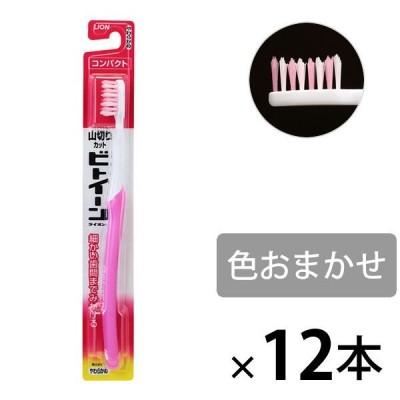 ビトイーンライオン ハブラシ コンパクト やわらかめ 1セット(12本) ライオン 歯ブラシ