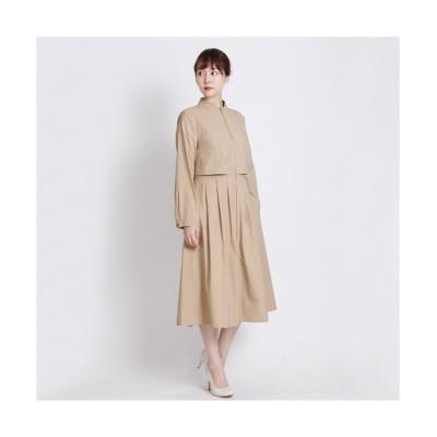 MARTHA(マーサ)ロングブルゾン風ワンピース (ワンピース)Dress