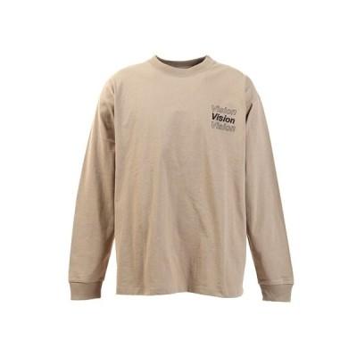 ヴィジョン(VISION) Tシャツ メンズ 長袖 ボタニカルフォトプリント 0323132-35BEI (メンズ)