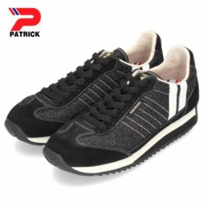 【還元祭クーポン対象】 パトリック スニーカー マラソン PATRICK MARATHON SHINY-M BLK 528741 ブラック メンズ レディース 靴 日本製