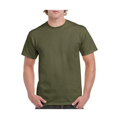 Gildan Men's Heavy Cotton T-Shirt, Style G5000, 2-Pack, Military Green, Med