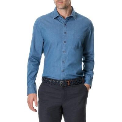 ロッドアンドガン メンズ シャツ トップス Tinline River Long Sleeve Regular Fit Shirt DENIM