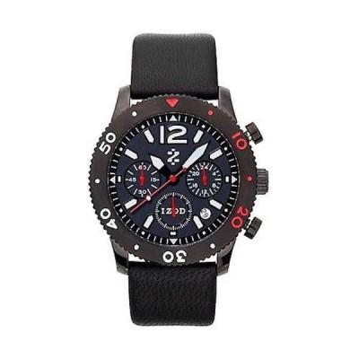 腕時計 イゾッド Izod メンズ IZS6/4.ブラック.レッド ブラック レザー クォーツ 腕時計