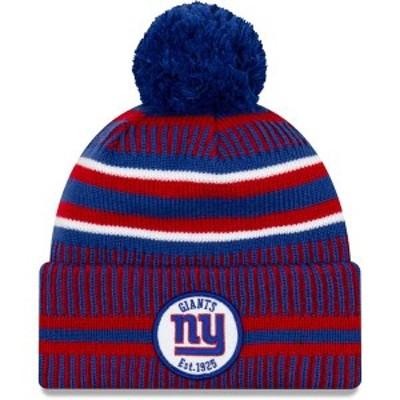 ニューエラ メンズ 帽子 アクセサリー New Era Men's New York Giants Sideline Home Sport Pom Knit Hat