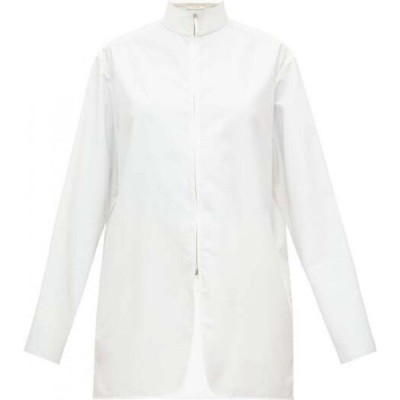ザ ロウ The Row レディース ブラウス・シャツ トップス Zana high-neck zip-through poplin shirt White