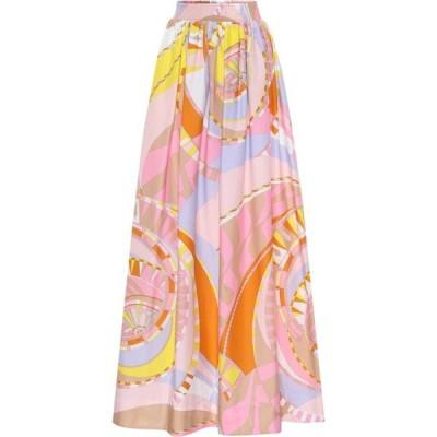 エミリオ プッチ Emilio Pucci レディース ロング・マキシ丈スカート スカート Printed cotton maxi skirt Rosa/Giallo