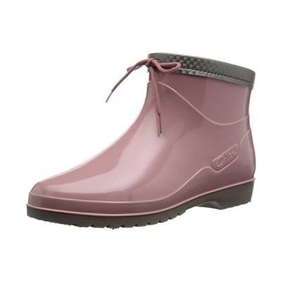 [アキレス] レインブーツ 長靴 作業靴 レインシューズ 日本製 E レディース OLB 0340 ローズ 24.5