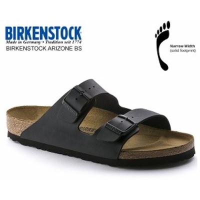【ビルケンシュトック アリゾナ BS】BIRKENSTOCK ARIZONA BS(NARROW FIT) BLACK 051793 ブラック レザーサンダル ダブルストラップ サン