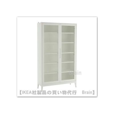 IKEA/イケア REGISSOR ガラス扉キャビネット118x203 cm ホワイト