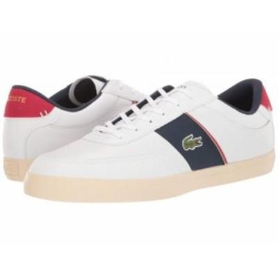 Lacoste ラコステ メンズ 男性用 シューズ 靴 スニーカー 運動靴 Court-Master 319 6 White/Navy/Red【送料無料】