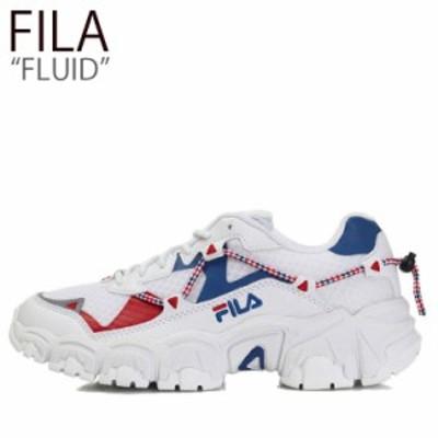 フィラ スニーカー FILA メンズ レディース FLUID フルイド WHITE BLUE ホワイト ブルー FS1RIB3101X シューズ