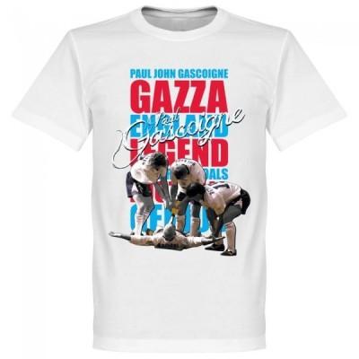 イングランド代表 ポール・ガスコイン Tシャツ SOCCER レジェンド サッカー/フットボール ホワイト