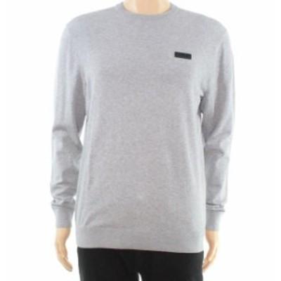 BOSS ボス ファッション トップス Hugo Boss Mens Sweater Gray Size Medium M Pullover Heather Crewneck
