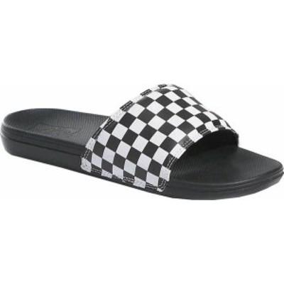 バンズ メンズ サンダル シューズ Men's Vans La Costa Slide-On (Checkerboard) True White/Black