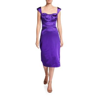 ザックポーゼン レディース ワンピース トップス Square-Neck Cocktail Dress