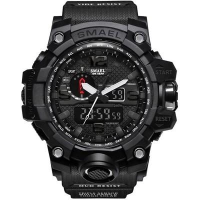 腕時計 メンズ SMAEL腕時計 メンズウォッチ 防水 スポーツウォッチ アナログ表示 デジタル クオーツ腕時計 多機能 ミリタリー ライト時計 運動