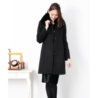 三京商会 / [SAGA] ステンカラーカシミヤコートファー付き WOMEN ジャケット/アウター > ステンカラーコート
