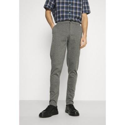 ソリッド カジュアルパンツ メンズ ボトムス DAVE BARRO - Trousers - dar grey melange