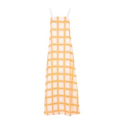 マッシモ・アルバ MASSIMO ALBA ロングワンピース&ドレス オレンジ S コットン 53% / リネン 47% ロングワンピース&ドレス