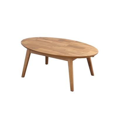 暖かみのあるアカシア突板のオーバルこたつテーブル こたつ, Kotatsu(ニッセン、nissen)