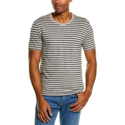 アンソニー・トーマス・メリロー メンズ Tシャツ トップス ATM Anthony Thomas Melillo Striped T-Shirt grey and black stripe